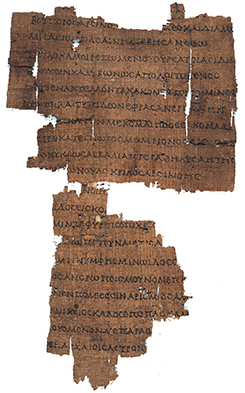 Papyrus fragment of the 'Coma Berenices' by Callimachus (1st cent. b.C. from Oxyrhynchus). Firenze, Biblioteca Medicea Laurenziana, PSI IX 1092r.