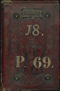 Esempio di legatura medicea. Firenze, Biblioteca Medicea Laurenziana, Plut. 69.18 (piatto anteriore)