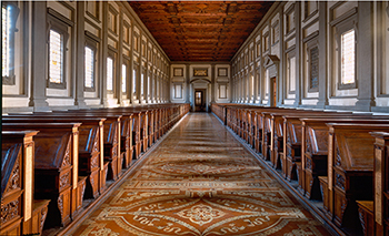 View of Michelangelo's Library